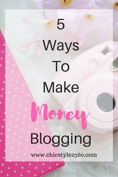 One way to make a passive income from your blog is through affiliate marketing. Get 5 ways to make money from your blog that you can implement immediately.