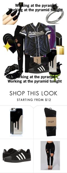 """Pyramids~Frank Ocean      6~4~17"" by mostwanted-mariah ❤ liked on Polyvore featuring Poetic Justice, HUF and adidas"