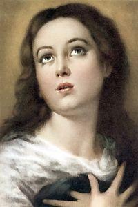 El dogma de la Inmaculada Concepción de María fue proclamado por el Papa Pío IX el 8 de diciembre de 1854, en su bula Ineffabilis Deus. Siglos atrás, la tradicción religiosa española recogía entre sus creencias que la Virgen María, como Madre de Dios, en el momento de su concepción quedó preservada de todo pecado.  El pintor sevillano Bartolomé Esteban Murillo (1617-1682) nos muestra en sus cuadros la devoción popular hacia la Inmaculada.