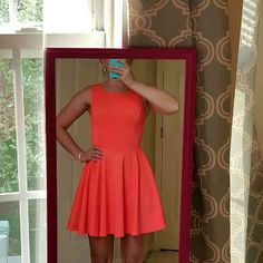 Guess dress Bright orange Guess Los Angeles dress with cut outs on back. Size XS, fits true to size.  Worn once. Guess Dresses Mini