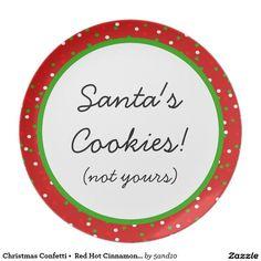 Christmas Confetti •  Red Hot Cinnamon Sprinkles Plates