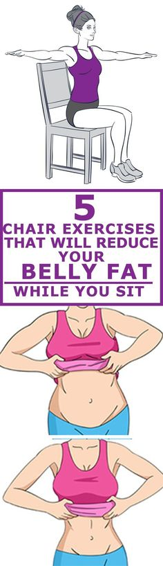 REDUCE BELLY FAT while you sit!!!! Yet, you no longer have excuses, as you can work out at home, or try these amazing chair exercises!
