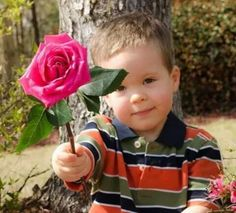 Boy with Pink Rose. Good Morning Beautiful Images, Beautiful Nature Pictures, How Beautiful, Beautiful Flowers, Good Morning Messages, Good Morning Greetings, Good Morning Wishes, Flower Images, Mothers Love