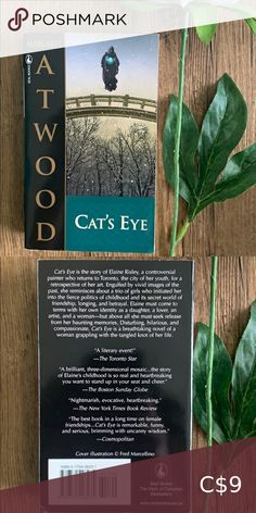 Book 📚 Cats Eye by Margaret Atwood Fiction novel brand new Book Other Yahtzee Game, City Of Ashes, Book City, Farm Games, Sailor Moon Manga, Fiction Novels, Margaret Atwood, Parenting Books, Cassandra Clare
