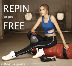 <3 REPIN to WIN <3 #ROMWESPORTSTYLE <3 <3 <3 How: 1, Follow @ROMWE on Pinterest <3 2, Repin this photo and do not change the text. <3 3, Wait to be picked. <3 End in 1 week (Sep.17th) winner will be picked via random.org from repiners! >>FREE SPORTS TOP<<.