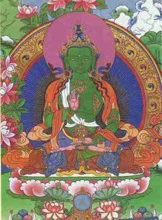 "Ratnasambhava Buddha means ""Born from a jewel"". He offers the world the three jewels: the Buddha, His teachings (Dharma) and His community (Sangha). Spiritual Warrior, Spiritual Path, Tibetan Buddhism, Buddhist Art, Tibetan Mandala, Karma, Spiritual Documentaries, Chakra, Vajrayana Buddhism"