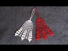 Jak zrobić płaski dzwonek - Szydełko - YouTube Crochet Christmas Ornaments, Christmas Crochet Patterns, Christmas Bells, Christmas Time, Christmas Crafts, Christmas Decorations, Filet Crochet, Crochet Shawl, Crochet Doilies