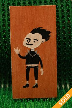 Goth Wooden Tags, Goth, Hand Painted, Fall, Fictional Characters, Autumn, Gothic, Fall Season, Goth Subculture