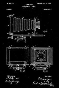1900 - Photographic Camera - F. Benjamin - Patent Art Poster #patentartposters