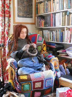 Knitting Projects, Crochet Projects, Knitting Patterns, Crochet Patterns, Knitting Humor, Yarn Bombing, Manta Crochet, Knit Crochet, Mollie Makes