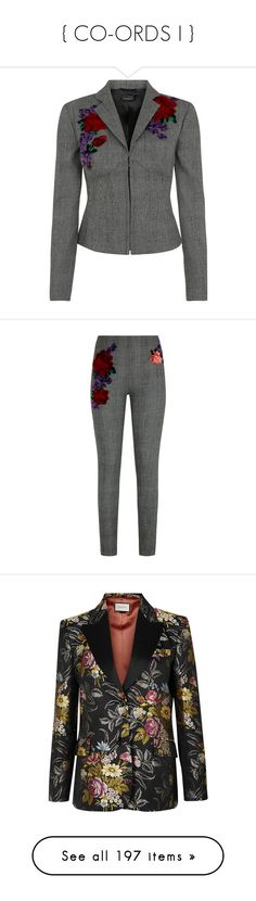 """{ CO-ORDS I }"" by fjonsen ❤ liked on Polyvore featuring outerwear, jackets, la perla, embroidery jackets, embroidered jacket, pants, leggings, black white pants, legging pants and white and black pants"