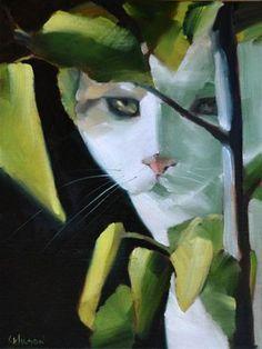 """""""Hibiscus Cat""""  Cheryl Wilson"""