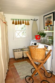 rough luxe: Ten Stylish Laundry Rooms You Can Copy