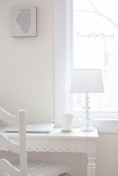 Home Office: I absolutely ADORE the white! I'm doing it!