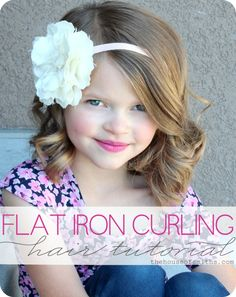 Flat Iron Hair Curling Tutorial with Video! #hairtutorials #littlegirlhairstyles