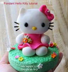 How to do fondant Hello Kitty topper tutorial