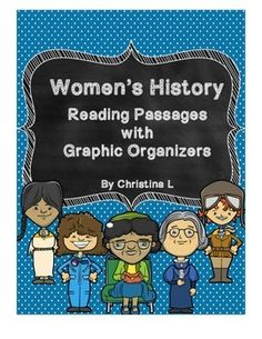 Use these reading passages and graphics organizers for Women's History Month or when teaching biographies.Includes: 6 Reading Passages Helen KellerSusan B. AnthonySacagaweaAmelia EarhartRosa ParksSally Ride 6 Graphic Organizers, 1 for each womanThese are great for individual work or cooperative learning.