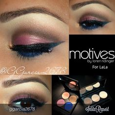 """#ggarcia2678 """"I did this look for today using #motives I used the Muse palette by Motives for @LA LA  I also used the Essential Brow kit by Motives for @Loren Ridinger  I have to say its a must have for natural looking brows!!!! Hope u like this simple look all by #motivescosmetics"""