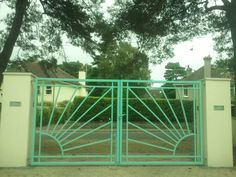 1930s Art Deco gates, all original, England