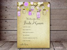 Wishes for the Bride and Groom – Printabell • Create