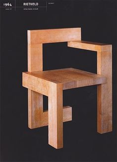 Don't look now, but I think this chair just got Incepted. (gerrit rietveld // steltman chair // 1963.)