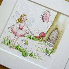 Woodland Fairy Watercolour - Folksy
