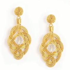 Ellisse Gold Earrings A play of interwoven paper and silk all #handmade in #italy by expert #artisans unique to #annaealex
