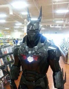 Iron Man and Batman Mashup Cosplay this is one of the few batmans I would like
