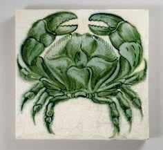 William De Morgan 'Crab' tile | Flickr - Photo Sharing!