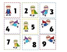 Preschool Printables: Super Hero Tommy's Days & Month Pritnable