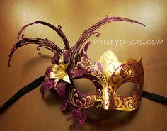 Purple Masquerade Mask PartyOasis.com