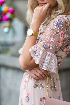 Pretty delicate details on a dress for Spring