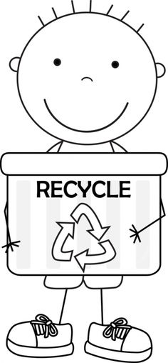 "Kid coloring pages  Earth Day activity for boys. Teach the ""recycle"" sign and its meaning. #Earthday"