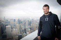 March 11. 2013 - Ryan Fitzpatrick, quarterback of the Buffalo Bills, seems to be enjoying the start of the off-season! He visited our VIP 103rd floor earlier today to take in the sights.