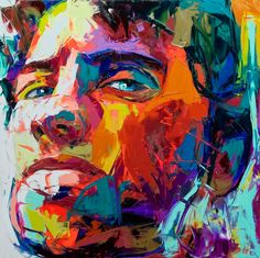 Knife Painting Portraits Artwork by Francoise Nielly   Inspiration Wings - good use of colour inspiration