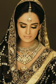 Asian Wedding Makeup  [I adore the eyes on this one. Very stylish, plus it goes well with her dress.]