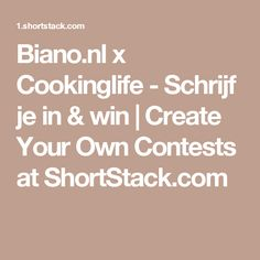 Biano.nl x Cookinglife - Schrijf je in & win | Create Your Own Contests at ShortStack.com