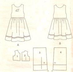 MOLDES VARIADOS E SELECIONADOS: vestidinhos tamanhos 1-2-3-4-5-6-7-8 anos mais 3 meses=6 meses =12meses e 18 meses