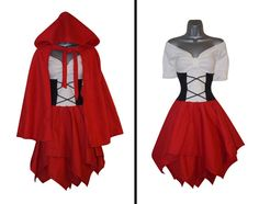 Steampunk Adult Little Red Riding Hood & Cape Fancy by LolaNovaUK