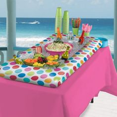 Inflatable Polka Dot Buffet Cooler | 1 ct