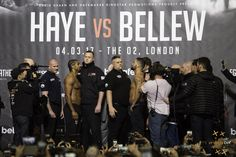 Last face to face between Haye and Bellew before the bell will ring #boxing