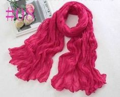 New-Women-Long-Big-Crinkle-Voile-Soft-Scarf-Wrap-Shawl-Stole-Pure-Candy-08
