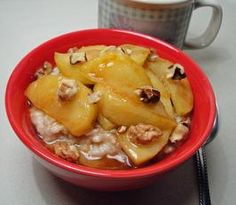 Steel Cut Oatmeal With Maple Sauteed Apples