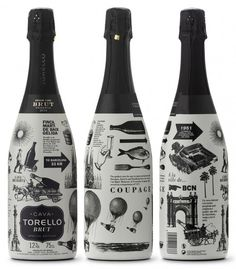 Probably not as cool as these examples featuring ten cool champagne bottle labels. View champagne bottle labels now. Cool Packaging, Food Packaging Design, Beverage Packaging, Bottle Packaging, Brand Packaging, Wine Label Design, Bottle Design, In Vino Veritas, Graphic Design