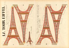 Eifel tower paper model
