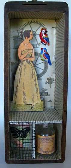 assemblage in sewing machine drawer . . . love using these drawers! . . .