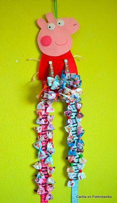Organizador clips y coleteros Peppa Pig