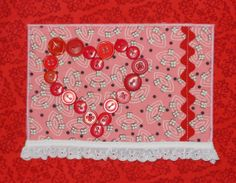 Valentines postcard fabric postcard friendship card by SilverDoily, $7.50