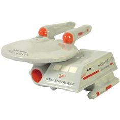 Westland Giftware Star Trek Magnetic Enterprise and Shuttle Salt and Pepper Shaker Set, Westland Giftware Star Trek Magnetic Enterprise and Shuttle Salt and Pepper Shaker Set, A magnetic insert keeps these cute shakers together. Star Trek Gifts, Salt N Peppa, Westland Giftware, Star Trek Collectibles, Tabletop Accessories, Salt And Pepper Set, Uss Enterprise, Salt Pepper Shakers, Cast Iron