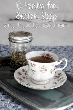 Many of us just can't get the sleep we need. Whether you suffer from occasional sleeplessness or chronic insomnia, these herbs may help. Plus, I'll share 3 easy tea blends you could be drinking tonight before bed! | TraditionalCookingSchool.com